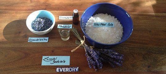 Zutaten Lavendel-Badesalz by everdry