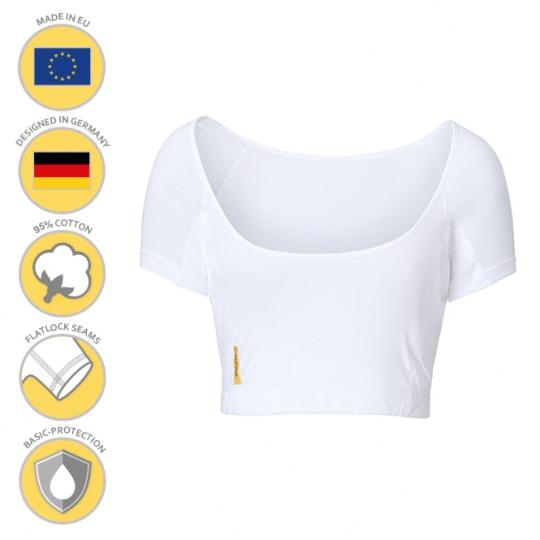MANJANA® Woman-U-bustier-shirt mit Achselnässeschutz gegen Flecken