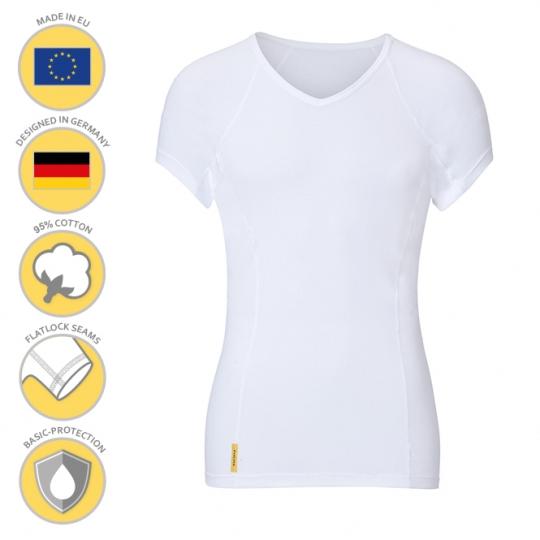 MANJANA® Man-V-classic-shirt mit Achselnässeschutz gegen Flecken