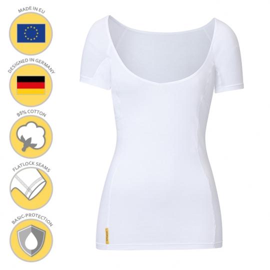MANJANA® Women-V-modern-shirt mit Achselnässeschutz gegen Flecken
